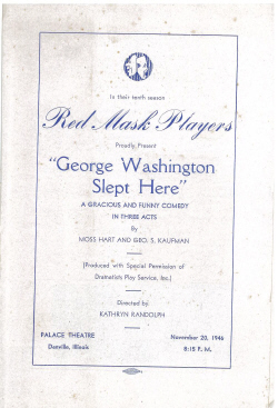 George Washington Slept Here (1946)