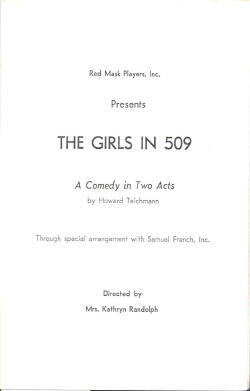 The Girls in 509 (1962)