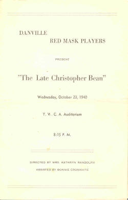 The Late Christopher Bean