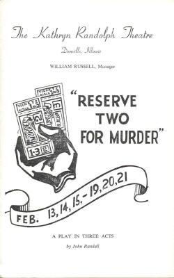 Reserve Two for Murder (alternate cover)